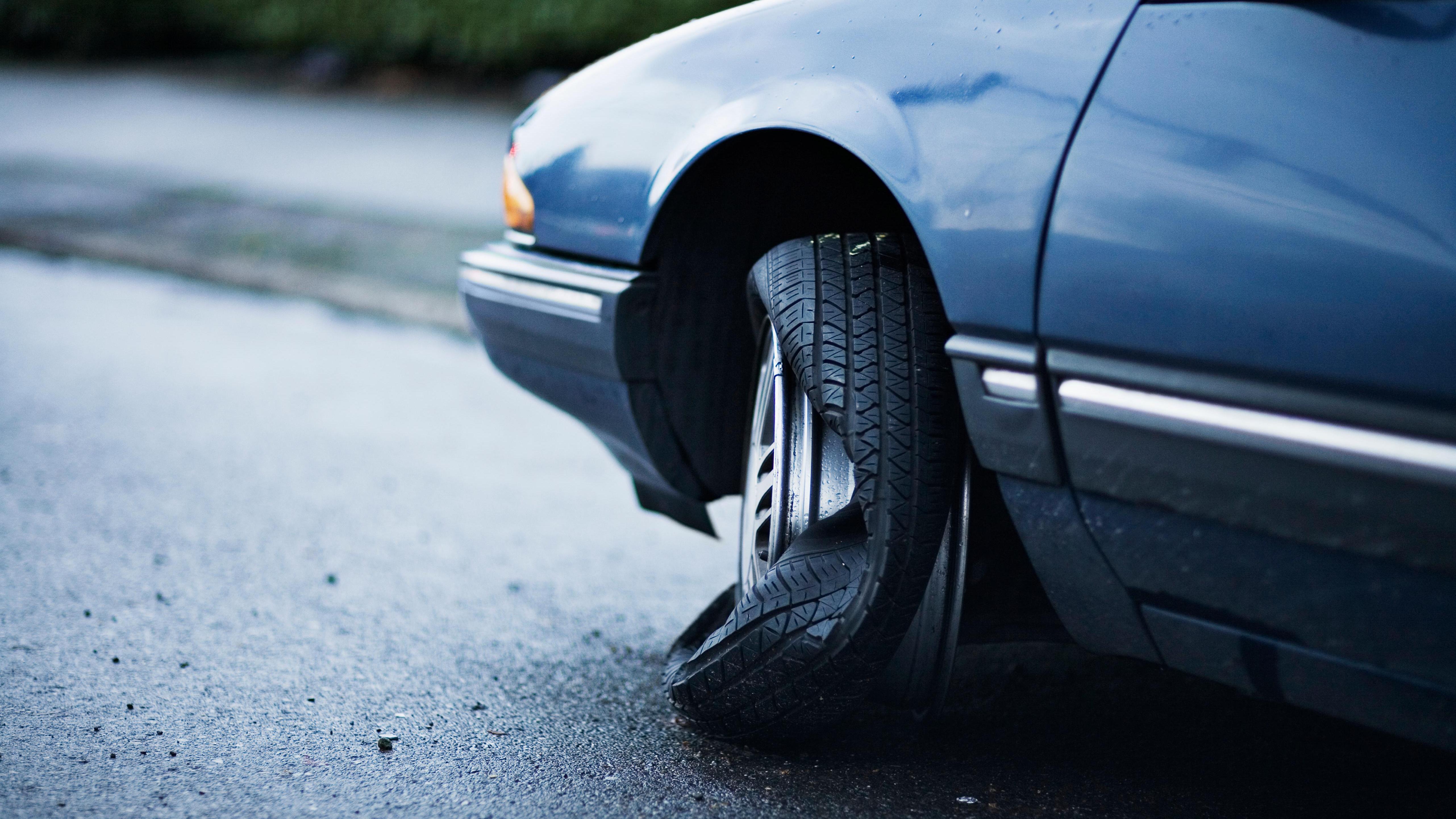 pressão baixa nos pneus